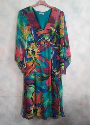 Винтажное платье per una с оригинальным декором