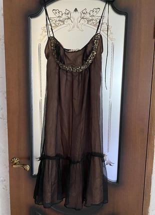 Шелковое милое платье zara