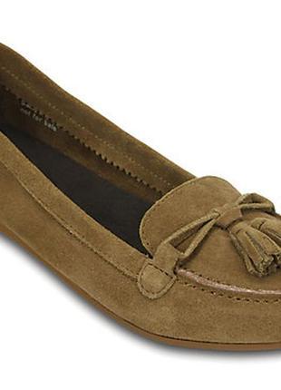 Crocs womens lina suede loafer оригинал. натуральная замша. 36-39