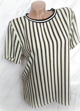 Легкая футболка в полоску size m