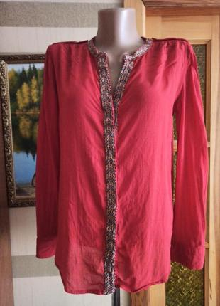 Блузка вышивкой mango