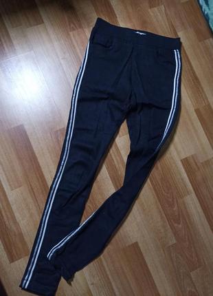 Спортивные штаны утепленные с лампасами