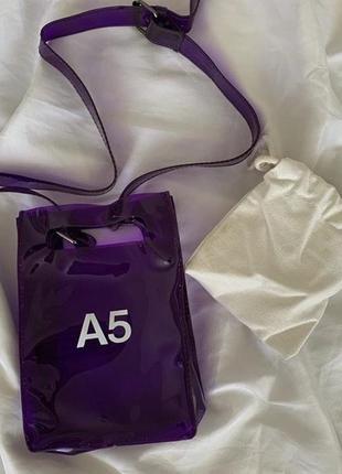 Силиконовая сумка а5