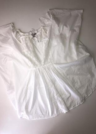 Пляжная рубашка накидка asos размер м{10} оверсайз новая коттон