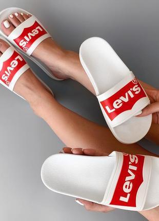 Шлепанцы levis. женские новые тапочки levi's. (левис. левайс). летние новые !