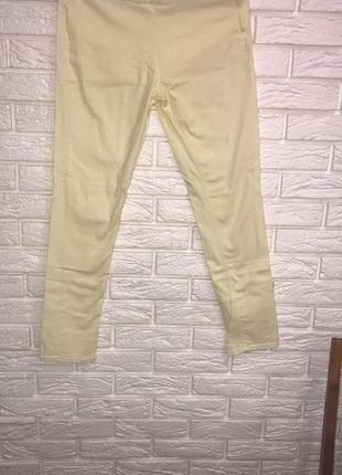 Жёлтые штаны брюки с высокой посадкой