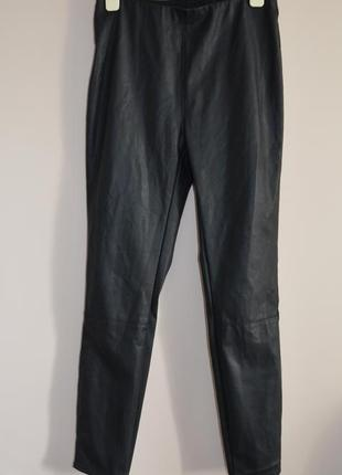 Кожаные лосины легинсы  штаны  эко кожа с высокой талией  new look