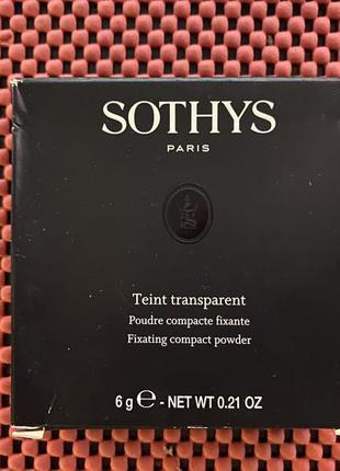 Пудра для лица фиксирующая sothys teint transparent