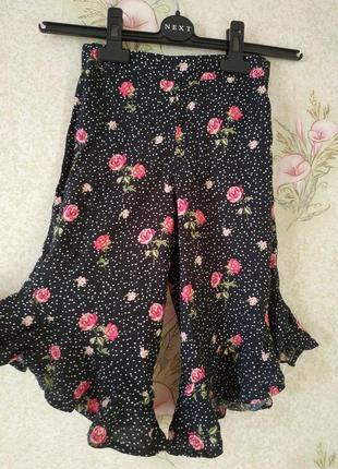 Летние укороченные штаны на девочку # фирменные брючки # next