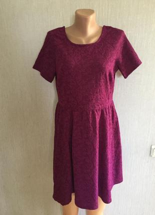 Красивенное фактурное платье 👗 марсала dorothy perkins