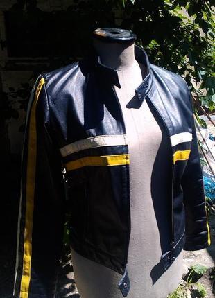 Кожанная мото куртка
