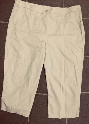 Летние хлопковые бриджи/длинные шорты большого размера
