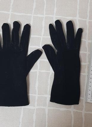 Рукавички перчатки черные на девочку размер xs-s