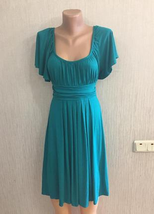 Красивенное натуральное платье с открытыми плечами 👗 dorothy perkins 12 англ