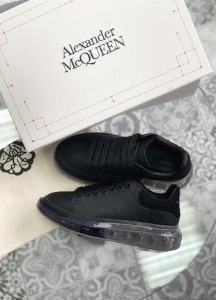 Alexander mcqueen oversized  black sole (кроссовки / кеды черные)