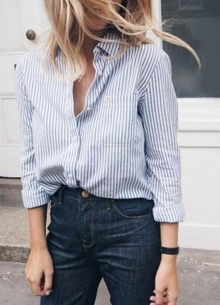 🌿 базовая рубашка в полоску, 100% лен от marks & spencer