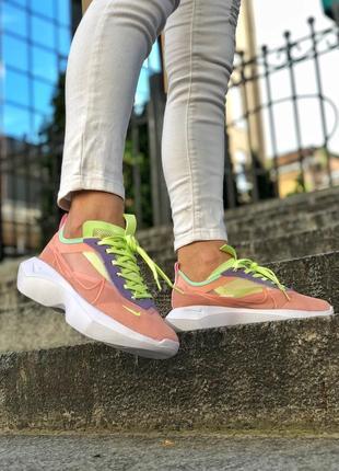 Крутые женские летние кроссовки nike vista litе пудровые с салатовым