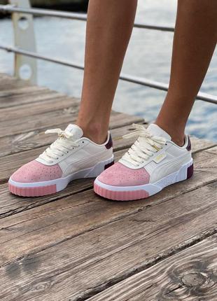 Puma cali pink/white