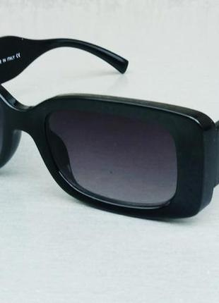 Versace очки женские солнцезащитные стильные узкие черные