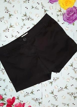 🌿1+1=3 крутые черные женские короткие шорты mango, размер 46 - 48