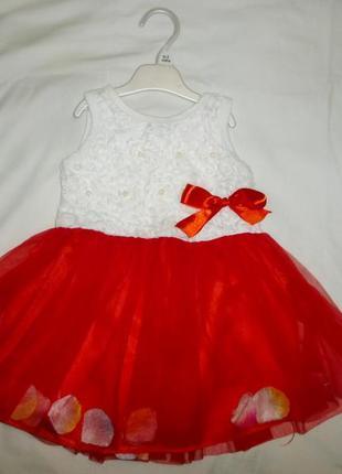 Платье на 12-18 мес +повязка
