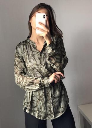 Эксклюзив! красивая блуза рубашка зелёная хаки h&m richard allan