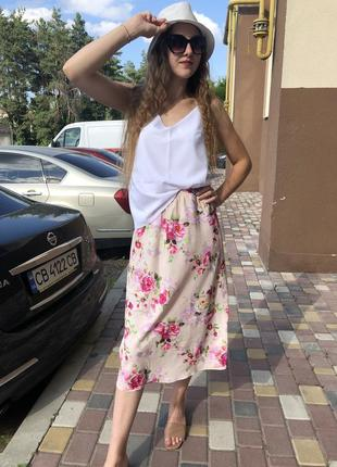 Шикарная летняя юбка миди