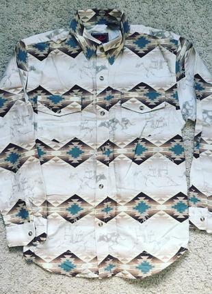 Крутая рубашка в стиле кантри ковбойская