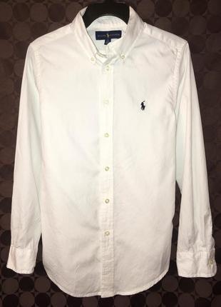 Белоснежная рубашка polo ralph lauren оригинал на подростка 14 / 164