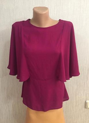 Оригинальная шифоновая блуза марсала пелерина atmosphere 12 англ