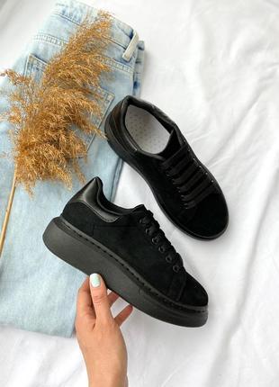 Стильные черные замшевые криперы! замшевые чёрные кроссовки