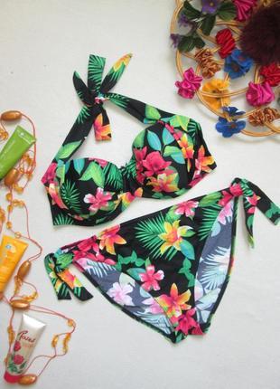 Шикарный раздельный купальник в яркий тропический цветочный принт george