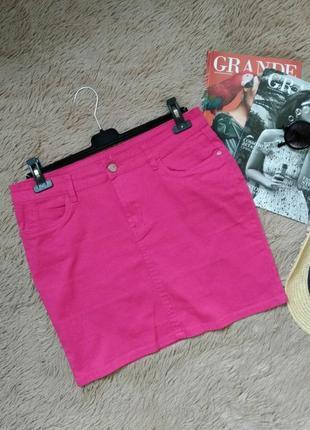 Актуальная яркая джинсовая юбка/короткая юбка с высокой посадкой