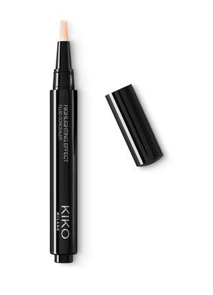 Kiko milano highlighting effect fluid concealer (консилер)