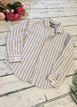 Рубашка в полоску marks&spencer полосатая