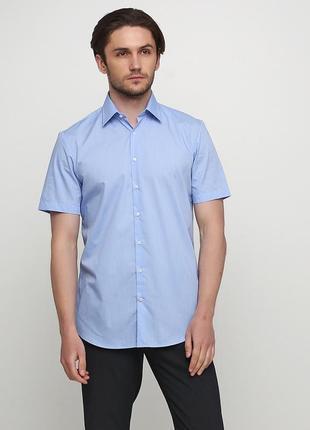Однотонная рубашка с коротким рукавом