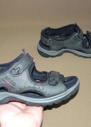 Ecco женские кожаные сандали босоножки оригинал! размер 37 23,5 см