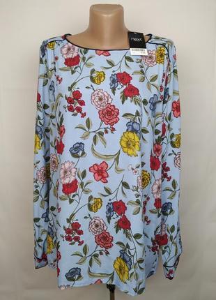 Блуза красивая натуральная в цветочный принт next uk 14/42/l