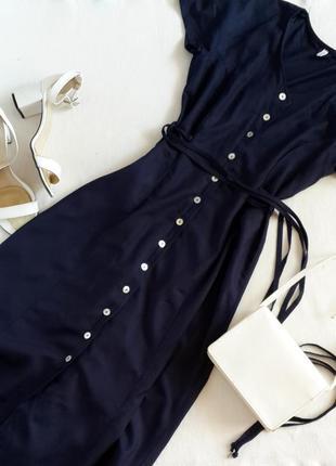 Платье льняное миди длинное на пуговицах