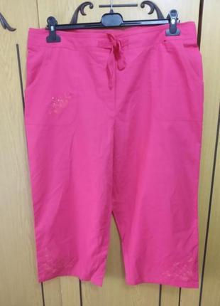 Бриджи, шорты летние, яркие, розовые