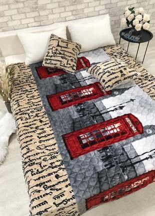 Стеганое покрывало с подушками