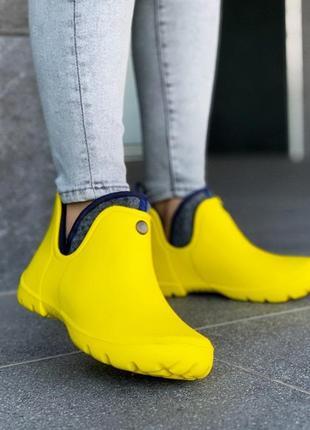 Ботинки резиновые с флисовым чулком