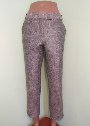 Класичні штани з ніжнорожевим відтінком