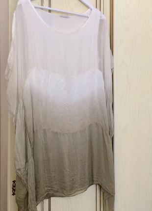 Плаття туніка шовк made in italy 100% silk