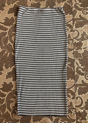 Длинная полосатая юбка