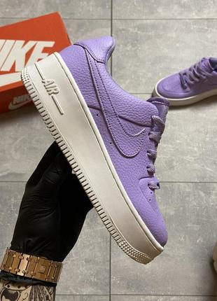 Кроссовки nike air force 1 low violet white