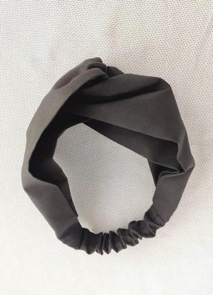 Повязка тюрбан чорна