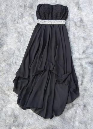 Платье бюстье с ассиметричным низом