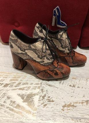 Туфлі із натуральної шкіри,від andre