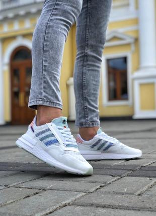 Прекрасные женские кроссовки adidas zx500 rm commonwealth белые